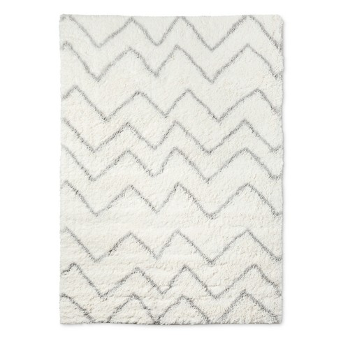 Cream Chevron Rug 5 X7 Pillowfort