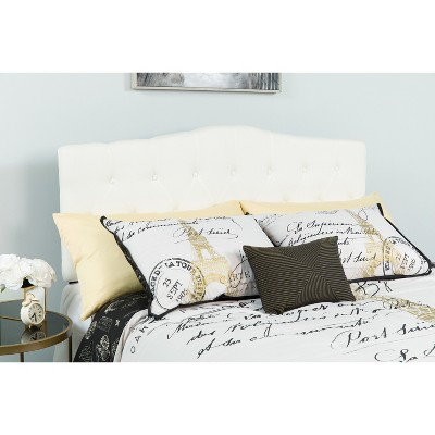 Emma and Oliver Arched Button Tufted Upholstered Headboard
