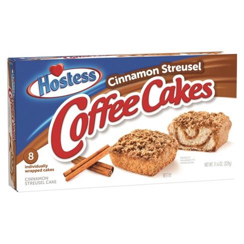 Hostess Cinnamon Streusel Coffee Cake 8ct 11 6oz Target