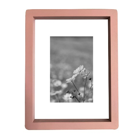 Thin Rounded Corner Wood Frame 6X8 Belle Pink - Threshold™ - image 1 of 4