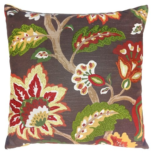 Red Floral Throw Pillow - Threshold™ - image 1 of 1