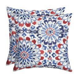 2pk Clark Square Outdoor Throw Pillows - Arden Selections