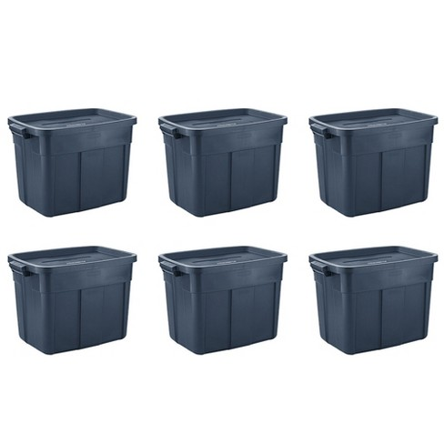 Rubbermaid Roughneck 18 Gallon Rugged Stackable Storage Tote Container (6 Pack) - image 1 of 4