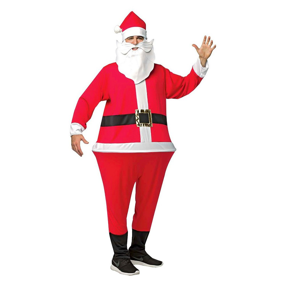 Men's Santa Adult Hoopster Costume - One Size, Multi-Colored