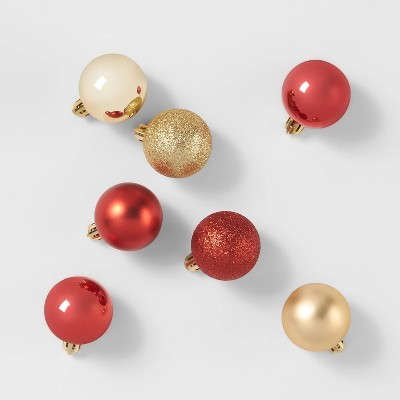 24ct/40mm Christmas Ornament Set Red & Gold - Wondershop™