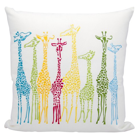 "White Giraffes Indoor/Outdoor Throw Pillow (20""x20"") - Nourison - image 1 of 1"