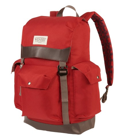 Wenzel Stache 28 with Plaid Daypack - Red - image 1 of 4