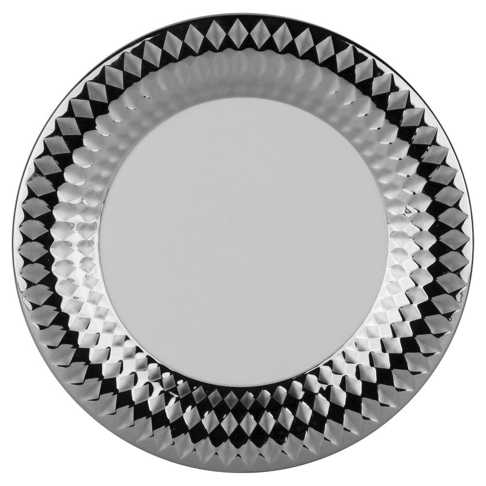 10 Strawberry Street Cairo Silver Dinner Plates Silver - 10.5