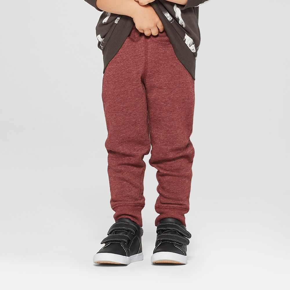 Toddler Boys' Jogger Pants - Cat & Jack Maroon 2T, Red