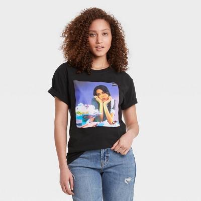 Women's Olivia Rodrigo Sour Album Short Sleeve Graphic T-Shirt - Black