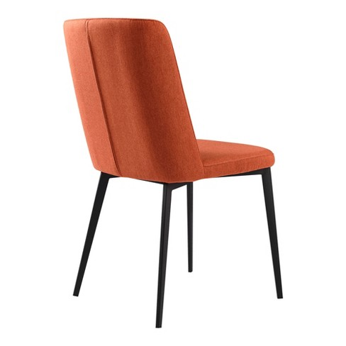Fabulous Set Of 2 Maine Contemporary Dining Chair Orange Armen Living Camellatalisay Diy Chair Ideas Camellatalisaycom