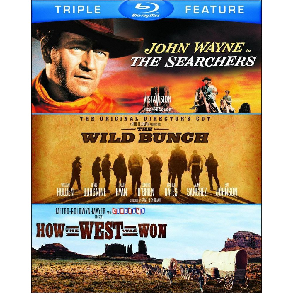 The Searchers/The Wild Bunch/How the West Was Won [3 Discs] [Blu-ray]