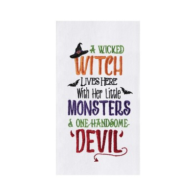 C&F Home Witch, Monsters, and Devil Kitchen Towel