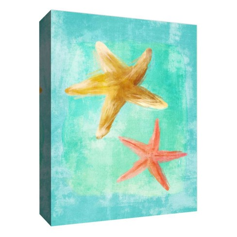 """2 Stars Decorative Canvas Wall Art 11""""x14"""" - PTM Images - image 1 of 1"""