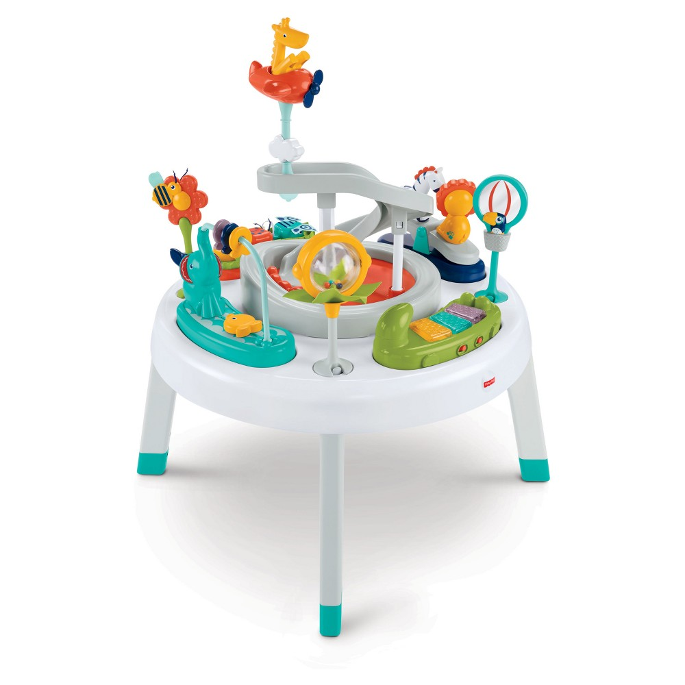 Image of Fisher-Price 2-in-1 Sit-to-Stand Activity Center - Safari