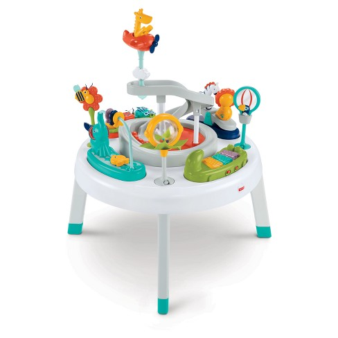 fisher price 2 in 1 sit to stand activity center safari. Black Bedroom Furniture Sets. Home Design Ideas