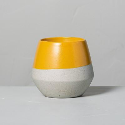 4.8oz Golden Hour Decorative Geo Ceramic Seasonal Candle - Hearth & Hand™ with Magnolia