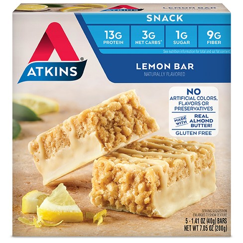Atkins Snack Bars - Lemon - 5ct - image 1 of 2