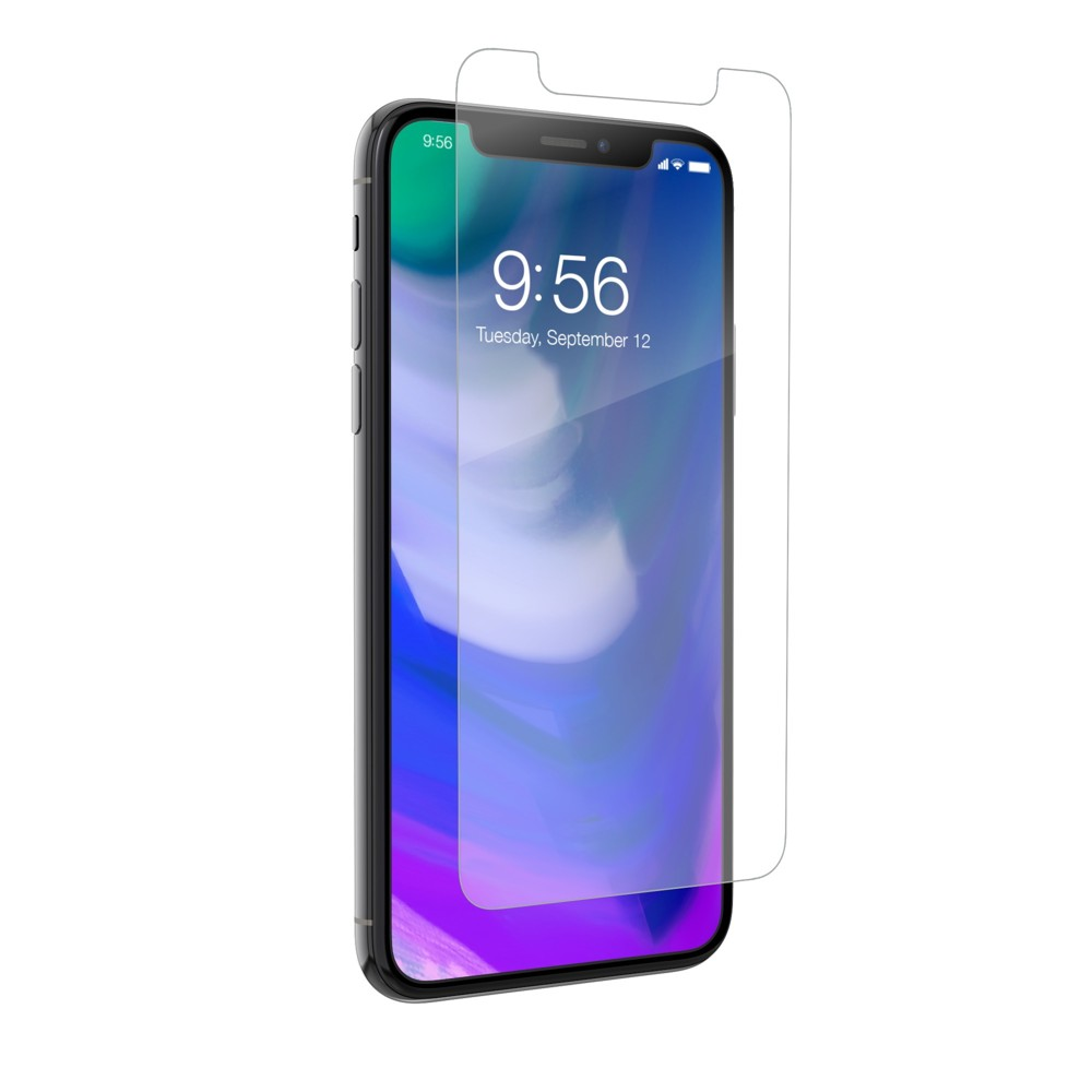 Zagg Apple iPhone X/XS Sapphire Defense Screen Protector, Clear Using the latest technological breakthroughs and materials, Sapphire Defense is a groundbreaking hybrid glass screen protector that provides the world's most advanced shatter, scratch, and smudge protection. Color: Clear. Pattern: Solid.