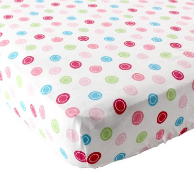 Luvable Friends Unisex Baby Fitted Crib Sheet - Pink Geometric One Size