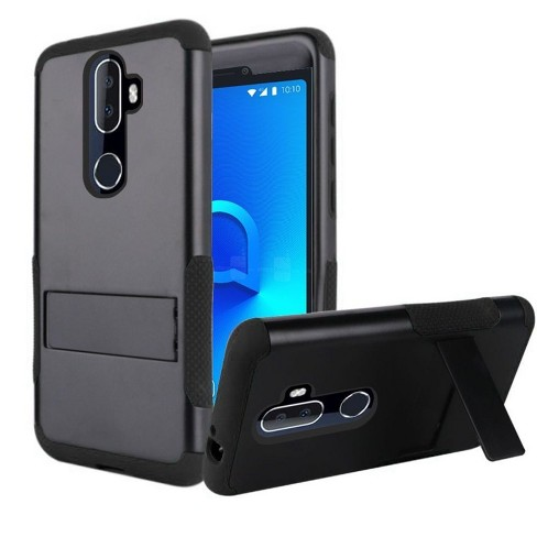 Insten Tough Rugged Hard Hybrid Plastic Silicone Case w/stand For Alcatel 3V - image 1 of 4
