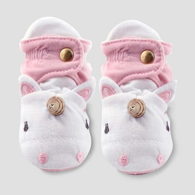 Baby Girls' Unicorn Bootie Wrap - Cloud Island™ Pink 0-3M