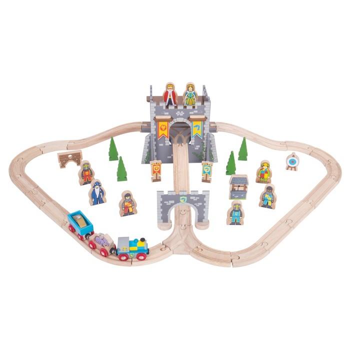 Bigjigs Rail Medieval Wooden Railway Train Set - image 1 of 1