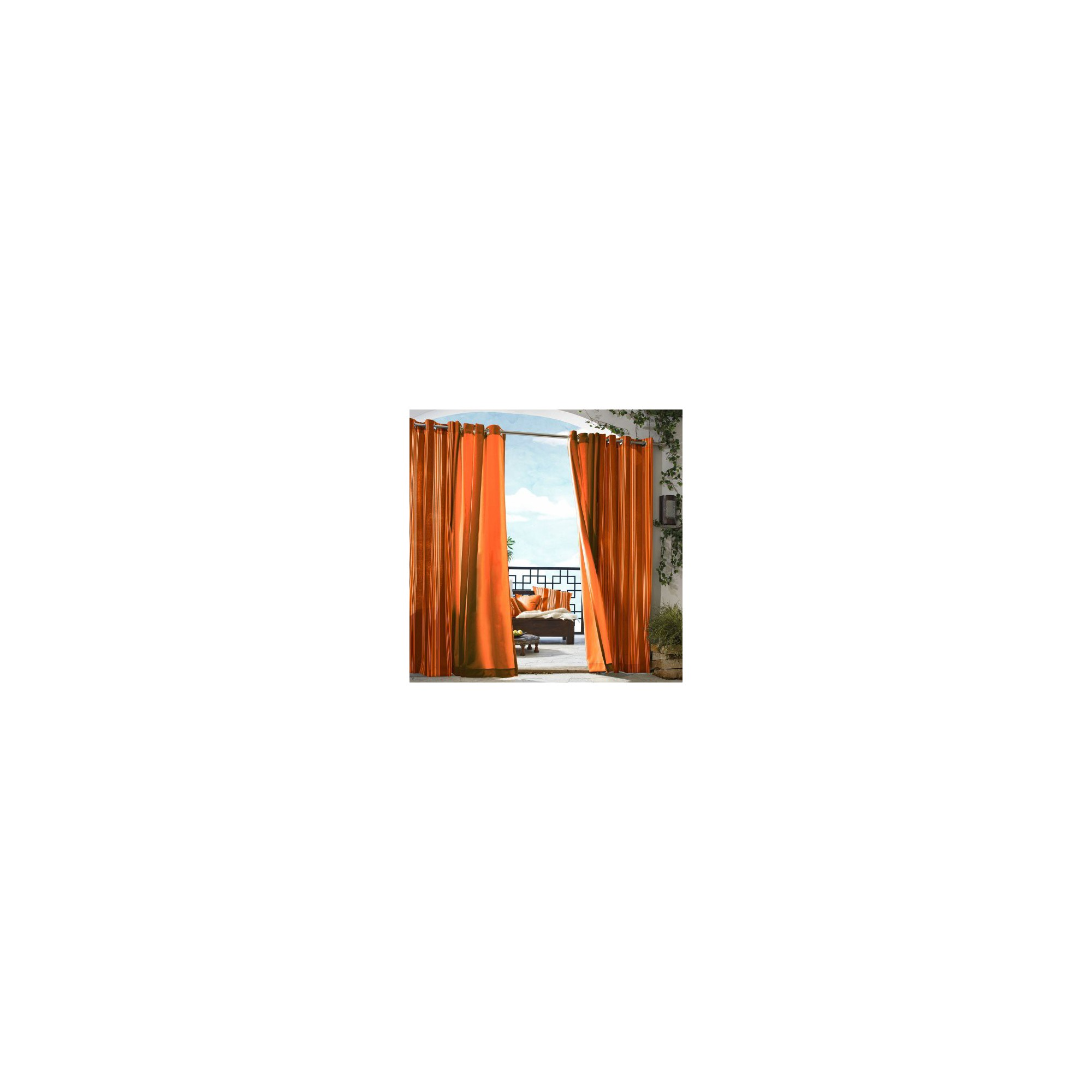 'Outdoor Décor Gazebo Solid Indoor/Outdoor Grommet Top Curtain Panel - Orange (50''x96''), Size: 50x96'''