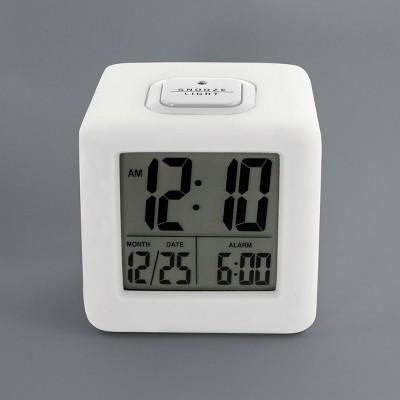 Cube Alarm Clock White - Timelink