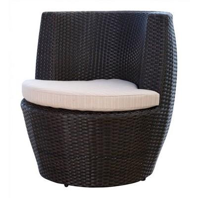 Newport Outdoor Wicker Bistro Chair - Espresso - Abbyson Living