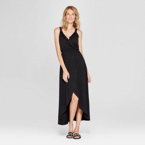 Women's Tassle Trim Maxi Dress - Spenser Jeremy - Black - image 1 of 2