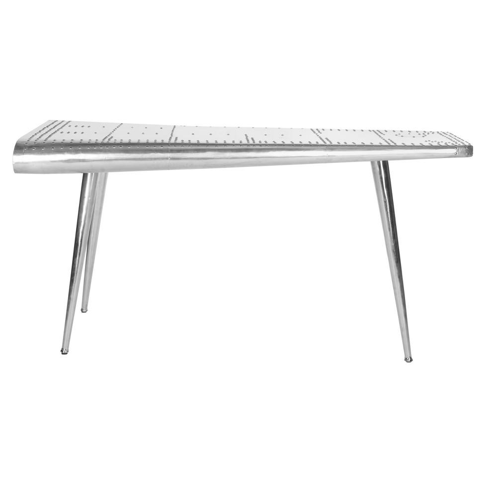 Aviator Console Table Silver - Safavieh