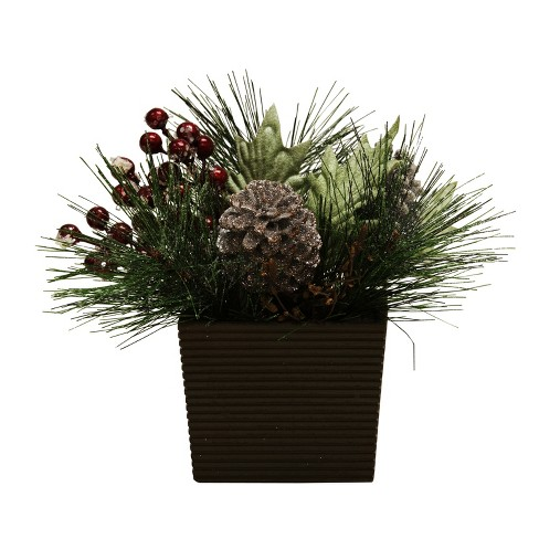 "9"" Pinecone and Berry Artificial Plant - image 1 of 1"