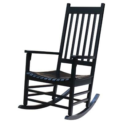 International Concept Patio Rocking Chair - Black