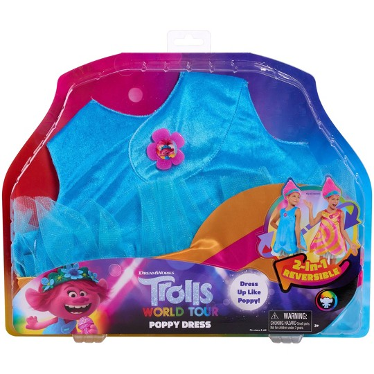 Trolls World Tour Poppy Dress Costume, Adult Unisex, Size: Small image number null