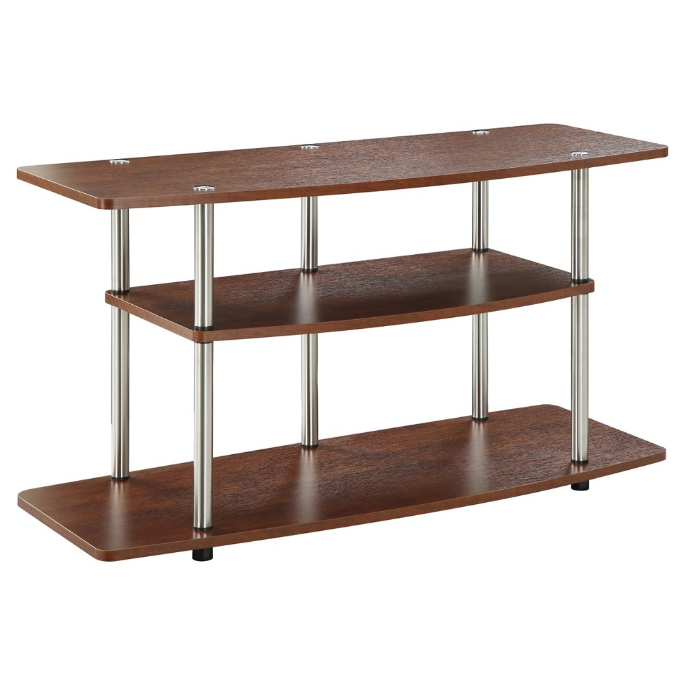 Image of 3 Tier Wide TV Stand Cherry - Johar Furniture, Brown