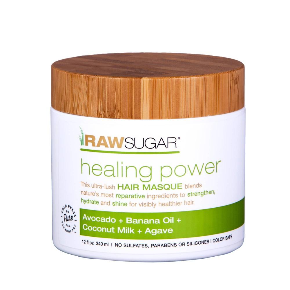 Image of Raw Sugar Healing Power Avocado + Banana Oil + Coconut Milk + Agave Hair Masque - 12 fl oz