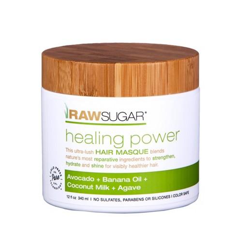 Raw Sugar Healing Power Avocado + Banana Oil + Coconut Milk + Honey Hair Masque - 12 fl oz - image 1 of 11