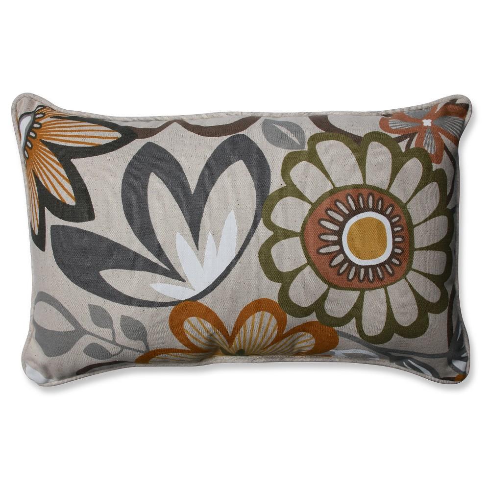 Blue Breakaway Flagstone Throw Pillow (18.5x11.5) - Pillow Perfect, Gray