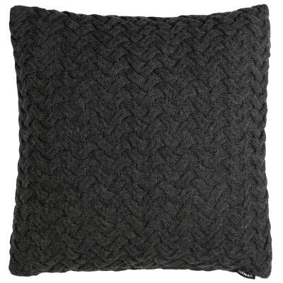 Affinity Knit Square Throw Pillow Dark Gray - Safavieh