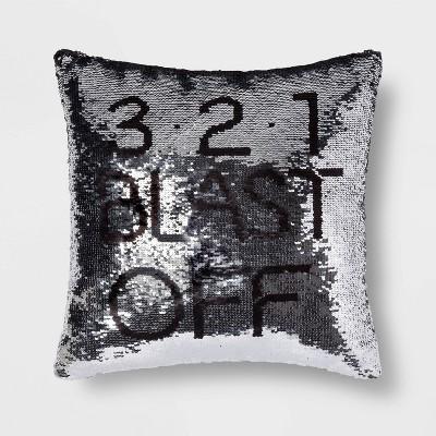 Blast Off Sequins Throw Pillow - Pillowfort™