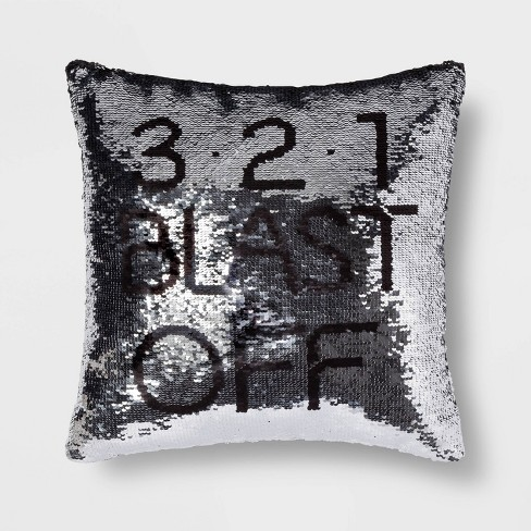 Blast Off Sequins Throw Pillow Pink - Pillowfort™ - image 1 of 3