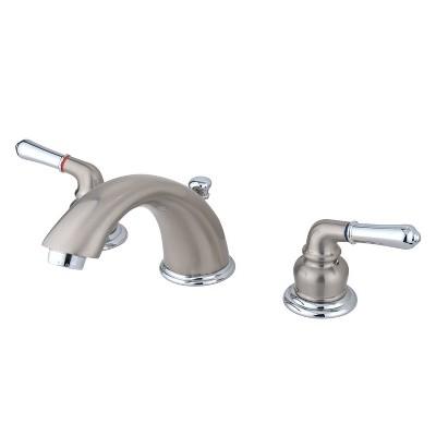 Widespread Two-Tone Bathroom Faucet - Kingston Brass