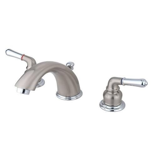 Widespread Two Tone Bathroom Faucet, Two Tone Bathroom Faucets