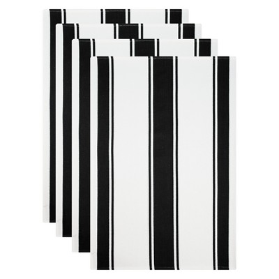 Kitchen Towel White/Black Set of 4 - Mu Kitchen