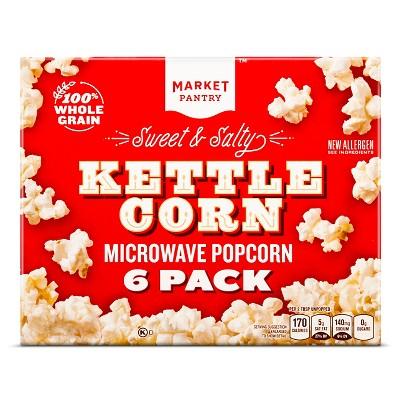 Sweet & Salty Kettle Corn 6ct - Market Pantry™