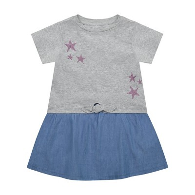 Andy & Evan  Toddler Two-Fer Tie Front Star Dress