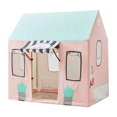 Wonder&Wise Indoor 32 x 44 x 45 Inch Childrens Kids Cotton Fabric Beauty Salon Pretend Play House Tent for Toddlers Ages 3 Years Old and Older