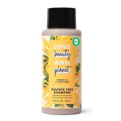 Love Beauty and Planet Hope and Hair Repair Sulfate-Free Shampoo for Split Ends and Damaged Hair Coconut Oil & Ylang Ylang - 13.5 fl oz