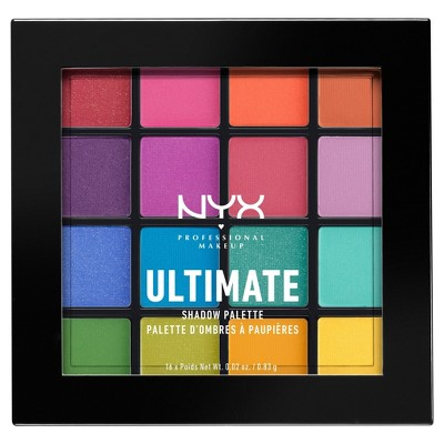 NYX Professional® Makeup Ultimate Shadow Palette Brights - 0.46oz
